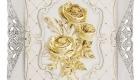 Bông hoa hồng dát vàng 3