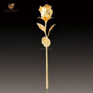 bông hoa hồng mạ vàng